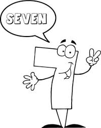 Click To See Printable Version Of Number 7 Says SEVEN Coloring Page