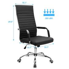 Furmax Ribbed Office Chair High Back PU Leather Executive Conference Chair  Adjustable Swivel Chair With Arms (Black) Fiber Side Chair Swivel W Castors A Modern Scdinavian 3 Ways To Increase The Height Of Ding Chairs Wikihow Nelson Platform Bench Herman Miller 8 Common Office Mistakes Avoid Huffpost Life Soul Seat Fniture For Schools Commercial Markets Scolhouse Art Sitting Posturite Anda Jungle Series Blue Gaming Armchair Wood Base An Embracing Comfort Recliner And Lounge Options Tall People Dgarden The Best Gaming Chairs 2019 Pc Gamer