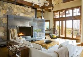 Living Room StylishRustic Contemporary Ideas Creative Way To Use The Modern Rustic