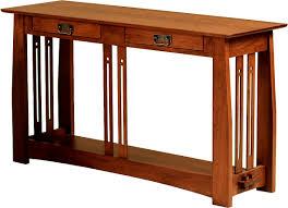 mission style sofa console table centerfieldbar com
