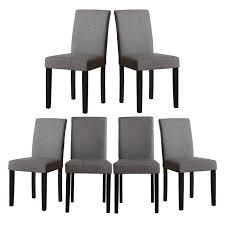 Amazon.com - Set Of 6 Modern Fabric Upholstered Dining Chairs ... Ding Chair Black Leather Kitchen Chairs Buy Fabric White And Room Sets Amazoncom Set Of 2 Modern Upholstered Naples Grey Vintage Pack Two Modish Synnes Black Rouse Home Ashford X Canterbury Lvet Fabric Ding Room Chairs Scroll Top High Back Reed Farmhouse Bri Metal Frame With Arms Colt Low Back Armchair O G Studio 4 Matching Satina With Stud Detail 82 Off Macys Patterned