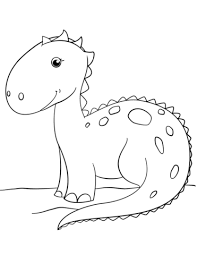 Click To See Printable Version Of Cute Cartoon Dinosaur Coloring Page