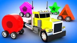 100 Youtube Big Trucks Color Shapes For Kids Learn Colors And Shapes With Truck