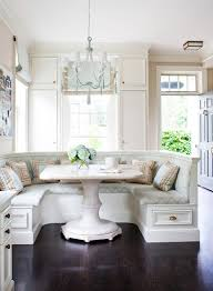 relaxed luxury dark wood and beige family eat in kitchen bench