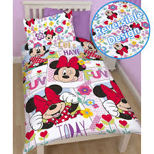 Minnie Mouse Bedding by Disney Mickey Or Minnie Mouse Single Duvet Cover Sets Kids Bedroom