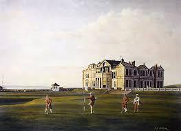 Golfing Print St Andrews