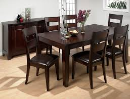 Dining Room Solid Oak Wood Black Sets With Dark Brown Finish And Beautiful