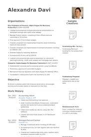 Accounting Intern Resume Example