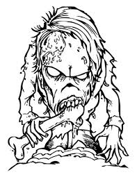 Scary Bone Eater Monster Coloring Page