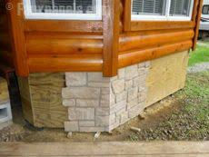 Metal Deck Skirting Ideas by Mobile Home Skirting Brick Rock And Stone Panel Options