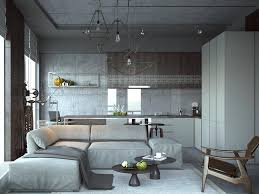 Studio Design Ideas Amusing Of The Apartment Decorating With Grey Wall Added