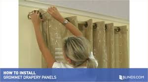 Curtain Rod Set Screws by How To Install Window Drapes Video Grommet Drapery Panels U0026raquo