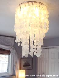 Pottery Barn Bedroom Ceiling Lights by Capiz Shell Ceiling Light With Elsa 16 Flush Mount Beach Style And