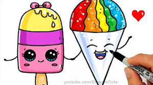Kawaii Coloring Sheets From Drawsocute Starbucks Unicorn Frapicino How To Draw An Ice Cream Cute Easy
