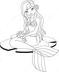 Download Coloring Pages Mermaid Page Stock Vector Malyaka 41025551