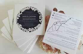 Laser Cut Square Navy Blue White Text Wedding Invitation Sydney
