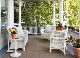 Veranda Wicker Furniture Porch Victorian With Chair White Shade