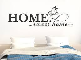 wandtattoo home sweet home mit schmetterling