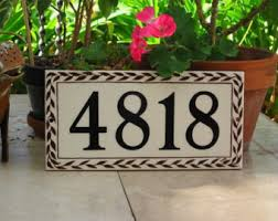 Mexican Tile House Numbers With Frame by Tile House Numbers Etsy