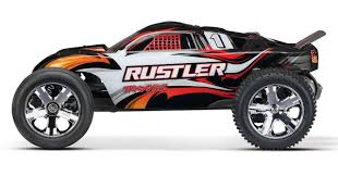 Traxxas Rustler Black 2WD Brushed Stadium Truck 1/10 W/ Radio ...