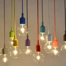 vintage edison pendant lights creative diy droplight rainbow