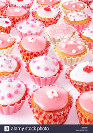PINK AND WHITE CUPCAKES OR FAIRY CAKES