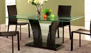Small Round Brown Stained Pine Wood Glass Dining Table Extension Inexpensive Room With