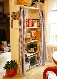 Dignitet Curtain Wire Hack by Use An Bookcase Tension Rod With A Curtain To Hide The Mess