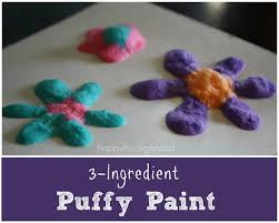 3 Ingredient Puffy Paint