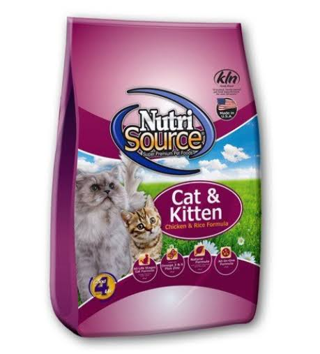 NutriSource Chicken and Rice Cat Kitten Food - 6.6lb