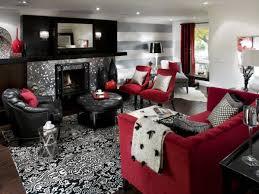 Red Black White Living Room Ideas