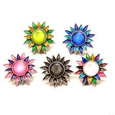 100 Where Is Dhgate Located 2019 N042 Enamel Sunflower Ginger Snap Jewelry Crystal Rhinestone
