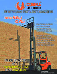 100 Dealers Truck Equipment RENTAL CUSTOMERS AND EQUIPMENT DEALERS ALIKE ARE CHOOSING COBRA LIFT