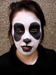Halloween Half Mask Ideas by Panda Face Paint Halloween Makeup Pinterest Theater Makeup