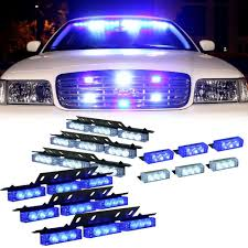 Amazon.com: DT MOTO™ Blue White 54X LED Personal Vehicle Deck Grill ... Damega Flex 4 Slim Led Grille Light 10 Pack Mounted Warning And 12 Grille Light Emergency Lighting Safety Northern Mobile Electric 4x Amber Strobe Bar Car Truck Beacon Visual Signals Signaling Platforms Beacons Primelux 30inch 72x3w Automotive Tir Lights 2 X 9 Automotive Vehicle Warning Emergency Lighting Car Round Led Whosale Trailer Home Page Response Vehicle Lightbars Recovery Daytime Flash Light Police Autos Running 24 For Trucks Jeep Suv Cars 12v Universal