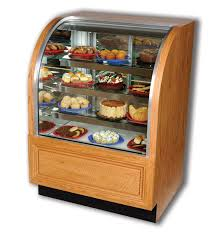 Bakery Display Case With Curved Front Glass