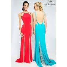 red panel jersey prom dress jvn jovani red jersey prom