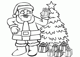 Santa Claus Free Coloring Pages For Christmas