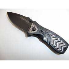 mini couteau militaire pliant de poche de 15 cm avec accroche pour