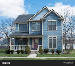 100 Picture Of Two Story House Blue Image Photo Free Trial Bigstock