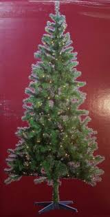 NEW PreLit 7 FOOT Christmas Tree Western Balsam Fir Clear Lights Pre Lit Lighted
