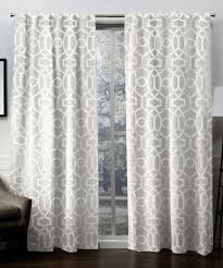 100 Residence Curtains Winter Metallic Woven Blackout Curtain Panel Set Of Two