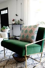 Chairs Living Room Arm Accent With Green Chair Pilow In The