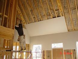 Hanging Drywall On Ceiling by Kelley Drywall