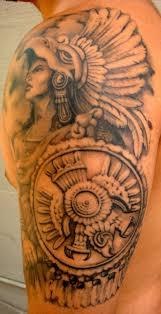Viking Lady And Ship Shoulder Tattoo