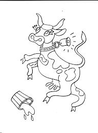 Coloriage Vache Cartoon Cliparts Vectoriels Et Plus Dimages De