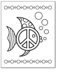 Angel Fish Peace Sign