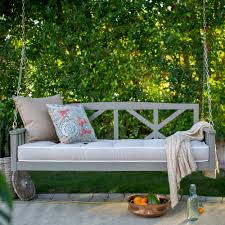 Deep Seat 64 inch Outdoor Patio Porch Swing in Driftwood with