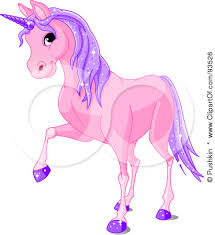 93526 Purple Unicorn With Sparkly Hair And Hooves