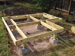 12x12 Floating Deck Plans by Building A Ground Level Deck With Deck Blocks Round Designs